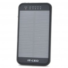 Solar Powered Rechargeable 3600mAh Portable Power Pack w/ 2-LED White Light & Charging Adapters