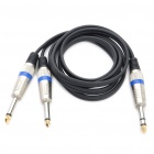 6.35mm Male Stereo Audio to Dual 6.35mm Male Mono Audio Adapter Cable (135CM-Length)