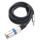 3.5mm Male to Cannon Male Audio Adapter Cable (138CM-Length)