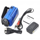 "5MP Digital Video Camcorder w/ 4X Digital Zoom/White LED Light/AV-Out/SD - Blue (2.4"" LTPS LCD)"