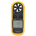 "1.4"" LCD Digital Wind Speed Meter Anemometer (Yellow + Black)"