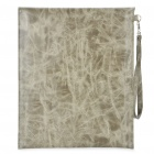 Stylish Protective PU Leather Case Bag with Strap for Ipad 2 - Grey