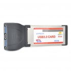 2-Port USB 3.0 Pcmcia/Express Card Adapter for Laptop