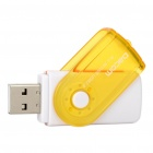 USB 2.0 SD/MMC/TF/M2 Memory Card Reader - Yellow + White (Max. 32GB)