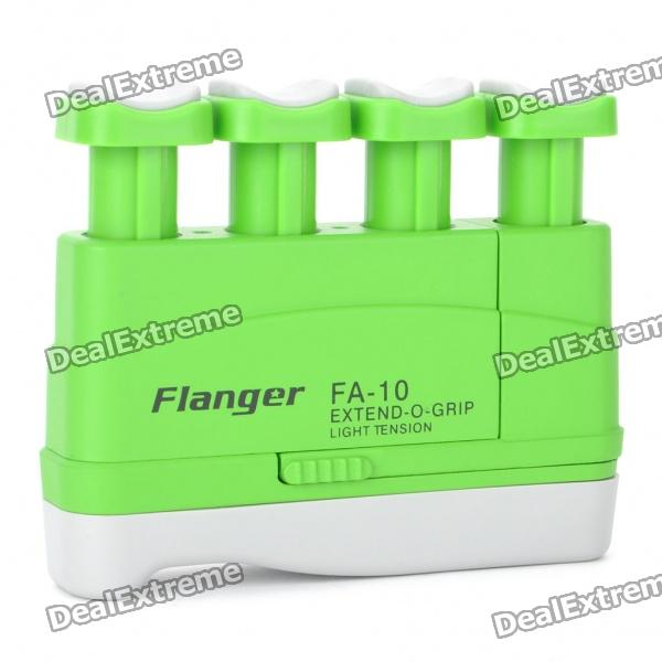Flanger FA-10 Extend-O-Grip Light Tension Hand Exerciser for Adults - GreenInstrument Parts<br>Color: Green - Tension: 5 pounds (for adults) - Strengthen and stretch the fingers - Unique ergonomic design allows you to exercise the fingers wrists and forearms while practicing the correct action for playing musical instruments - Increases finger speed strength and independence - The span between fingers can be extended and strengthened by progressively shifting the fourth button away from the others - Compact &amp;amp; ultra-light can practice without instrument anywhere &amp;amp; anytime<br>