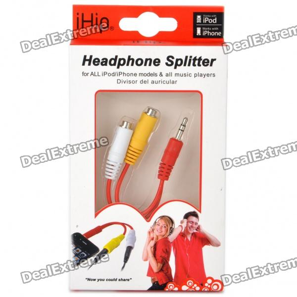 3.5mm Male to Dual Female Audio Split Y-Cable for iPad/iPod/iPhone 3GS/4 (7CM-Length)