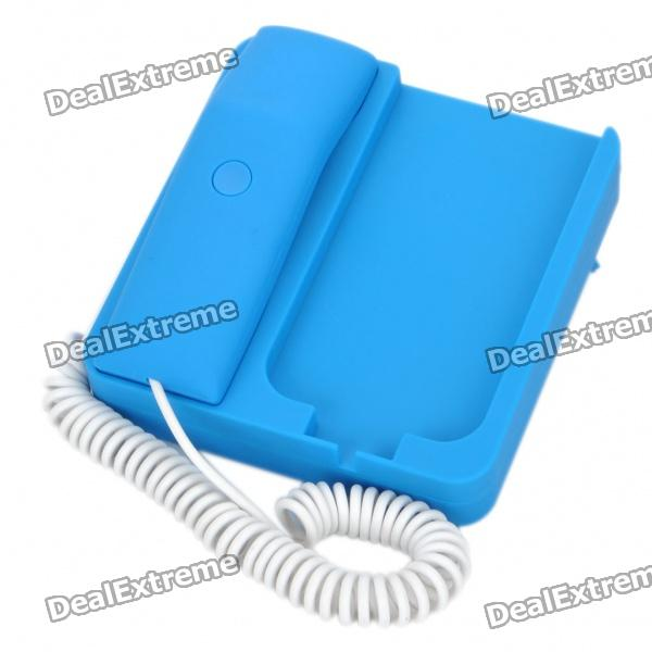Unique Telephone Landline with 3.5MM Audio Jack for iPhone - Blue