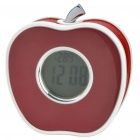 Apple Shaped LED Alarm Clock with Thermometer - Random Color (3 x AAA)