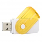 USB 2.0 SD/MMC/TF/M2 Memory Card Reader - Yellow + White + Green (Max. 32GB)