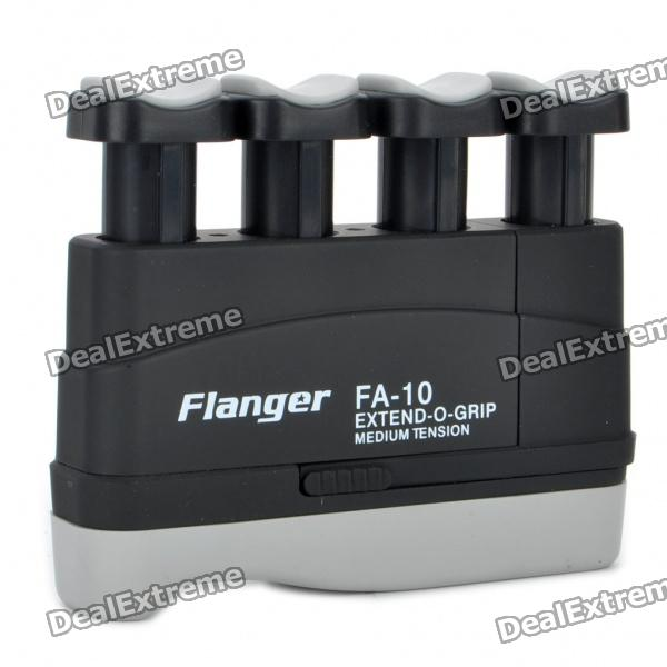 Flanger FA-10 Extend-O-Grip Medium Tension Hand Exerciser for Adults - Black + Grey mini strength finger exerciser kids child mini finger exerciser guitar bass piano beginner trainer fa 12 guitar accessories
