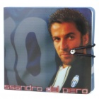 Juventus Football Club Alessandro Del Piero Pattern Plastic CD Storage Case - Black (Holds 12-CD)