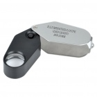Portable 20X 21mm Jewelers Loupe/Magnifier w/ 1 White LED Illumination (3 x LR1130)