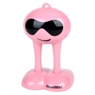 Cute Alien Style USB Rechargeable Wireless Music Speaker w/ 3.5mm Line In/Transmitter - Pink