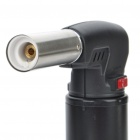 HONEST Zinc Alloy Butane Jet Torch Lighter - Black (Max. 1200'C)