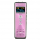 "CENLUX 1.0"" LCD USB Rechargeable Digital Voice Recorder w/ MP3 Player - Rose Red (4GB)"