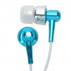 Stylish APOLOK ME-C049 In-Ear Earphone - Blue (3.5mm Jack/115cm-Cable)