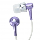 Stylish APOLOK ME-C049 In-Ear Earphone - Purple (3.5mm Jack/115cm-Cable)