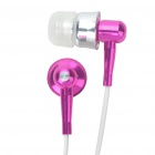 Stylish APOLOK ME-C049 In-Ear Earphone - Rose Red (3.5mm Jack/115cm-Cable)