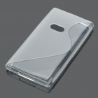 Stylish Protective TPU Back Case for Nokia N9 - Transparent