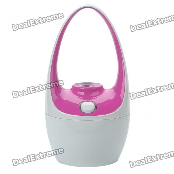 Cute Mini Basket Style USB Powered Air Humidifier - White + Deep Pink