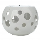 Stylish Ceramic Ball Style Solar Powered Light Activated Multicolored Decorative Lamp - White