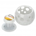 Elegante Estilo de cerámica Bola Solar Powered Activado Luz Lámpara multicolor decorativo - Blanco