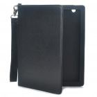 Protective PU Leather Case w / Strap für iPad 2 - Black