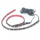 Car Decorative 2.9W 18x3528 SMD LED Blue Light Water Resistant Flexible Strips - Pair (DC 12V)