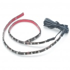 Car Decorative 2.9W 18x3528 SMD LED Yellow Light Water Resistant Flexible Strips - Pair (DC 12V)
