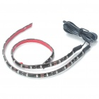 Car Decorative 2.9W 18x3528 SMD LED Green Light Water Resistant Flexible Strips - Pair (DC 12V)
