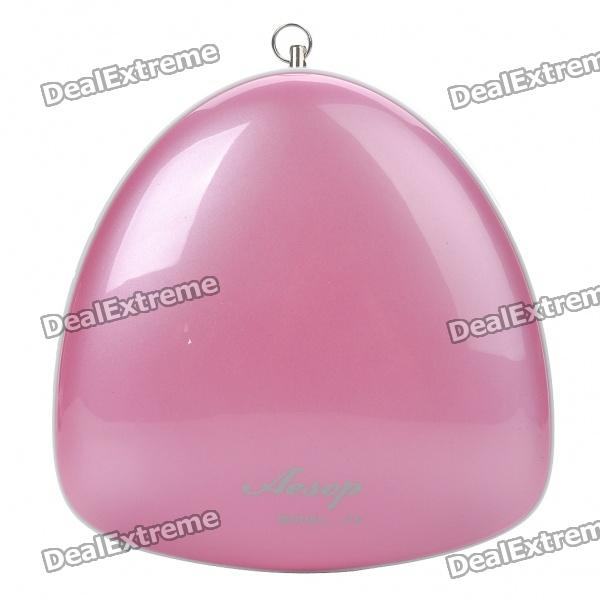 USB Rechargeable MP3 Player Speaker w/ FM/AUX/Dual 3.5mm Audio/TF Slot - Pink + White