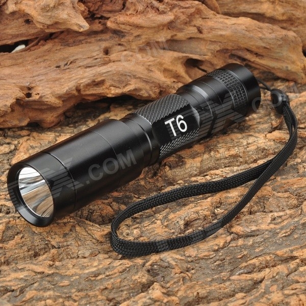 UltraFire C6-T60 3-Mode 1200LM LED White Flashlight w/ Strap (1 x 18650) ultrafire m3 t60 3 mode 910 lumen white led flashlight with strap black 1 x 18650