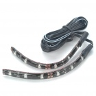 Car Decorative 0.96W 6x3528 SMD LED Blue Light Water Resistant Flexible Strips - Pair (DC 12V)