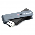 Genuine Kingston Data Traveler Locker USB 2.0 Flash Drive - Black (8GB)