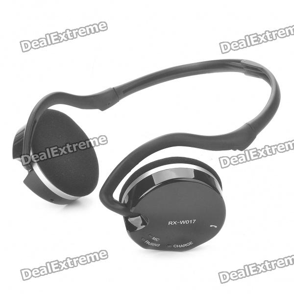 RX-W017 2.4GHz Rechargeable Wireless Stereo Headset - Black