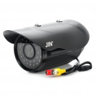 1/3 SONY CCD Water Resistant Surveillance Security Camera w/ 30-LED IR Night Vision - Black (DC 12V)