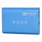 Portable Rechargeable 6000mAh Emergency Power Battery w/ Adapters - Blue