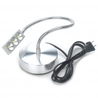 3W 300LM 3-LED Cold White Light Neck Flexible Desk Lamp (AC 85~265V)