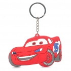 Buy Cars Silicone Anime Figure Keychain - Red + White + Grey