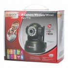 300KP Wireless Network Security Surveillance IP Camera w/ 10-LED IR Night Vision - Black