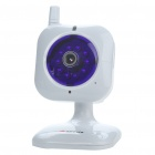 Mini 300KP Wireless Network Security Surveillance IP Camera w/ 10-LED IR Night Vision - White
