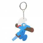 Buy The Smurfs Silicone Anime Figure Keychain - Handy Smurf