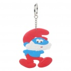 Buy The Smurfs Silicone Anime Figure Keychain - Papa Smurf