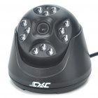 1/3 SONY CCD Surveillance Security Camera w/ 12-LED IR Night Vision - Black (3.6mm/DC 12V)
