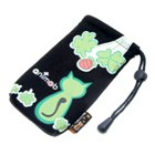 Trendy Cell Phone Vertical Velvet Bag