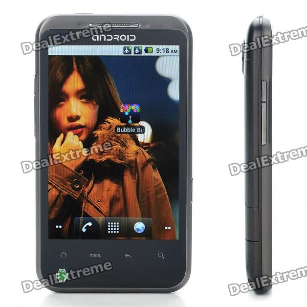 "4.0"" Capacitive Android 2.2 Dual SIM Quadband GSM TV Cell Phone w/ Wi-Fi - Grey"