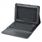 "78-Key Rechargeable Wireless Bluetooth Tastatur PU Ledertasche für Samsung Galaxy Tab 10.1 ""- Schwarz"