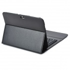"78-Key Rechargeable Wireless Bluetooth Keyboard PU Leather Case for Samsung Galaxy Tab 10.1"" - Black"