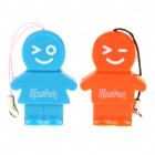 Kaston Cute Boy and Girl Style USB 2.0 TF Card Readers - Orange + Blue (Pair/Max. 32GB)