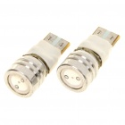 T10 1W 90-Lumen 2-Mode 1-LED Blue Light Bulb (Pair/DC 12V)